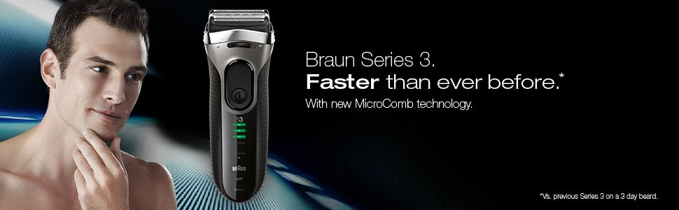 Braun series 3 3090cc Electric shaver with cleaning centre