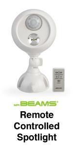 mr beams spotlight with remote control, wireless remote control spotlight, outdoor remote spotlight