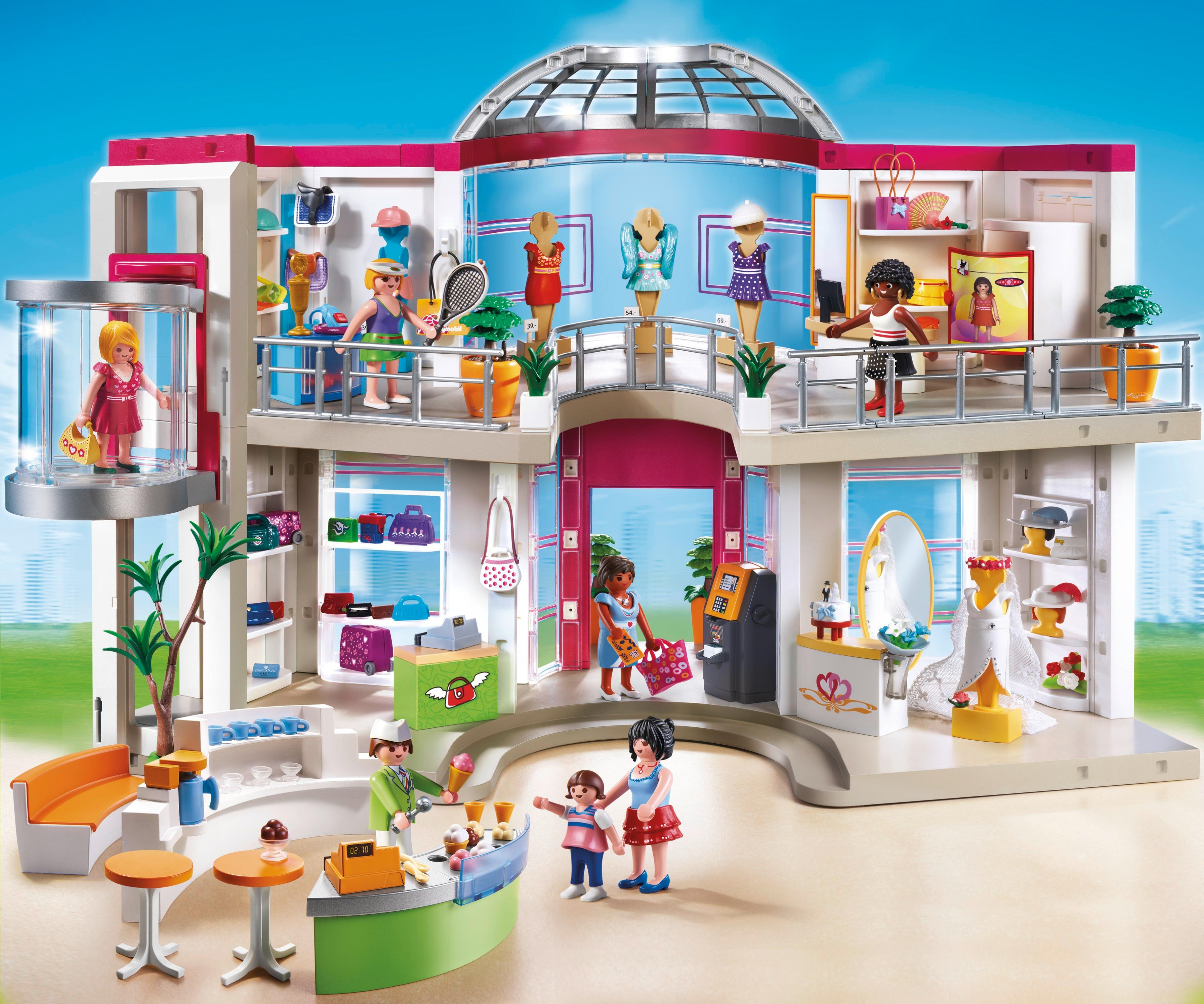 Playmobil 5485 city life shopping centre for Piscine playmobil