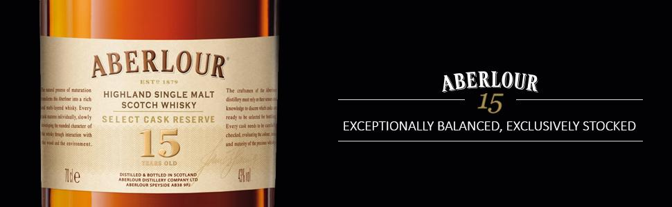 Aberlour 15 Year Old - exceptionally balanced, exclusively stocked