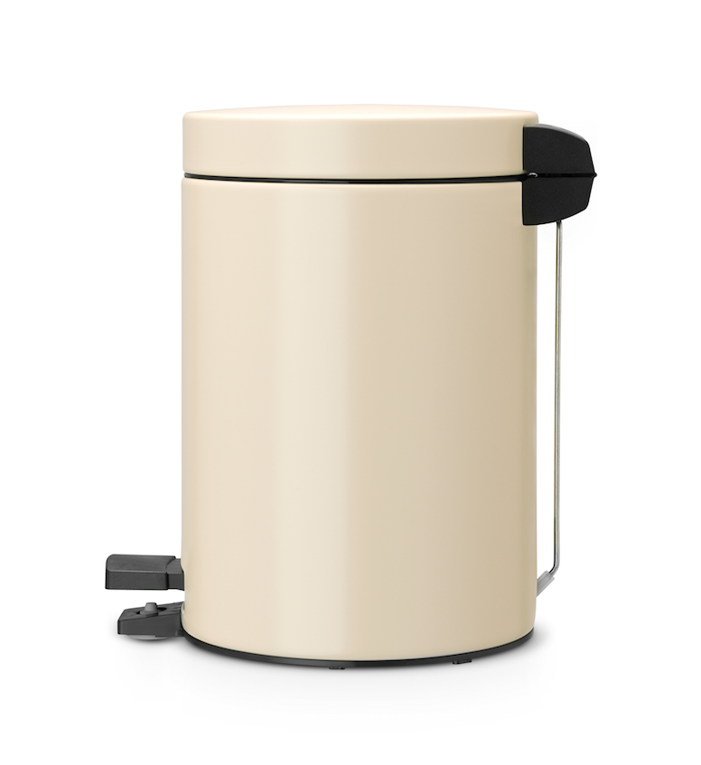 Brabantia Pedal Bin With Plastic Inner Bucket 3 L Almond Kitchen Home