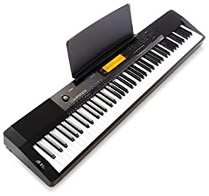 casio cdp 230rbkc5 digital piano with 88 weighted touch response keys black. Black Bedroom Furniture Sets. Home Design Ideas