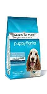 Arden Grange; Puppy; Junior; Chicken & Rice