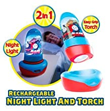 Night light; kids night light; Thomas and Friends night light; night light and torch; kids lamp
