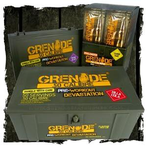 Grenade 50 Calibre Pre-Workout Devastation - Berry Blast, 50 Servings