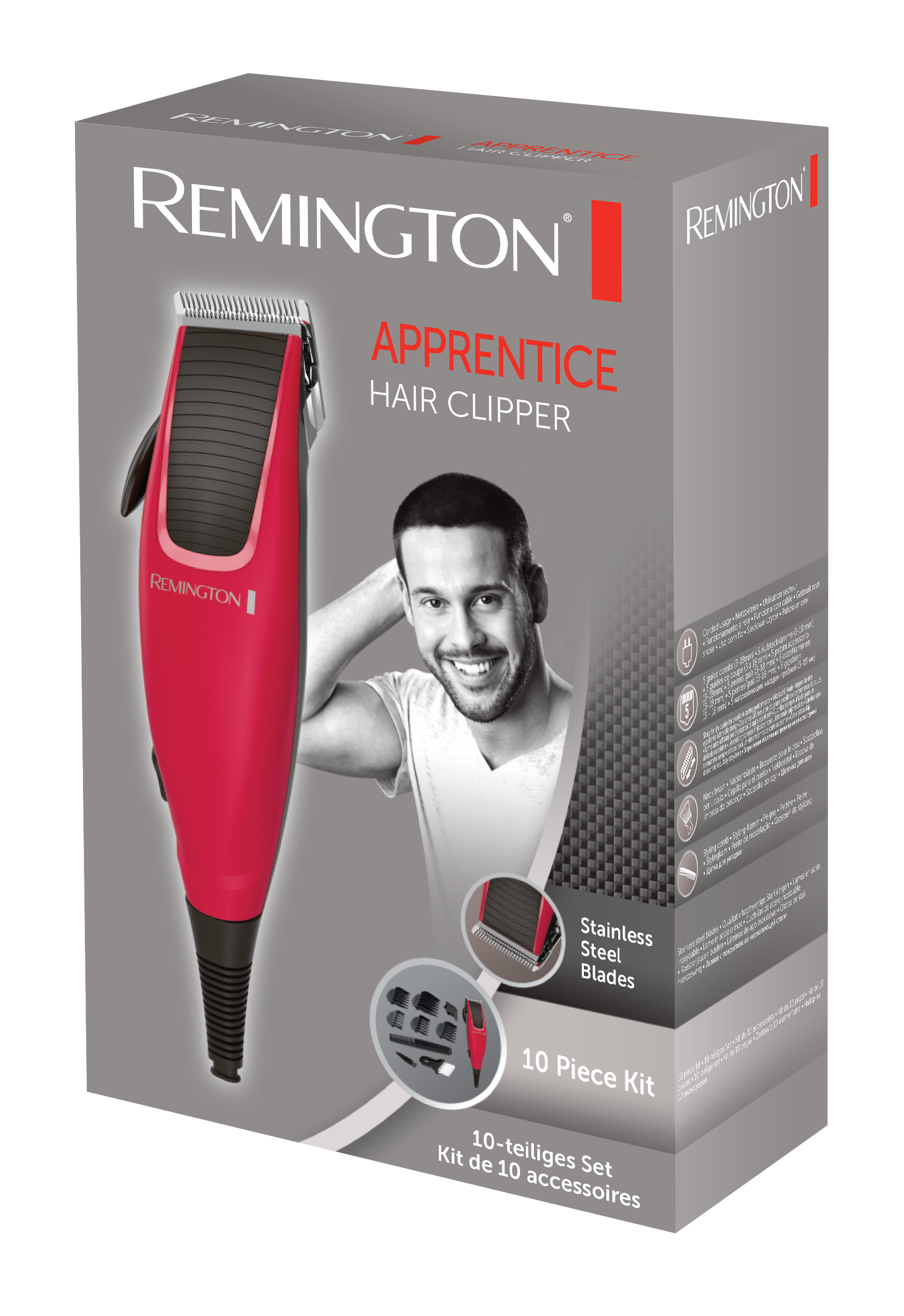 remington hc5018 apprentice hair clipper red amazonco