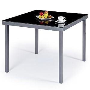 Gartentisch alu 90x90  Ultranatura Aluminium Garden Table, Korfu Series - 36 x 36 x 28 in ...