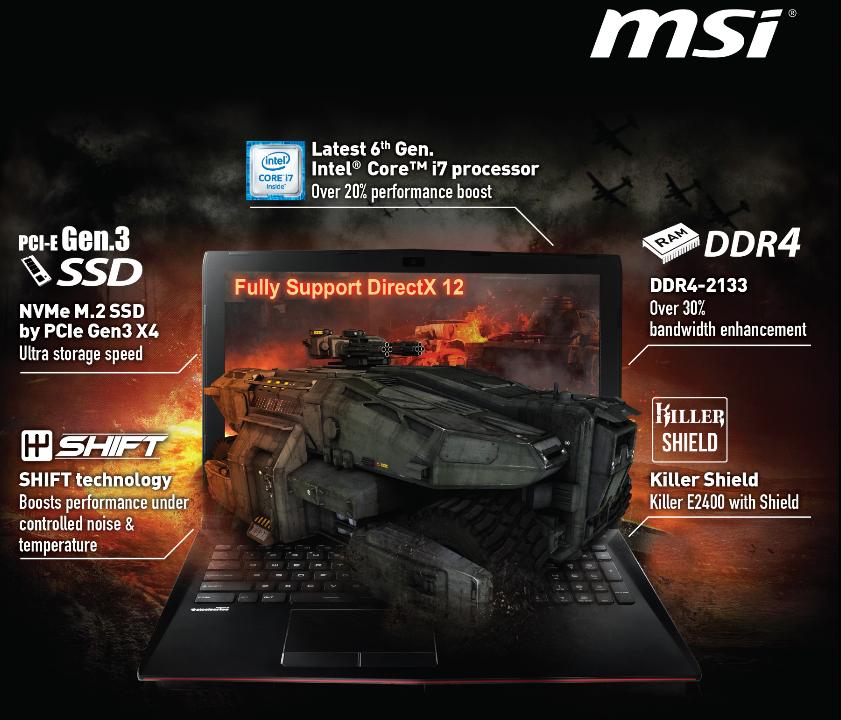 MSI GP62 6QE Leopard EC Radio Switch Windows 8 X64
