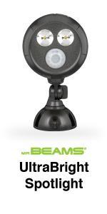 mr beams ultrabright spotlight, bright motion spotlight, outdoor led spotlight