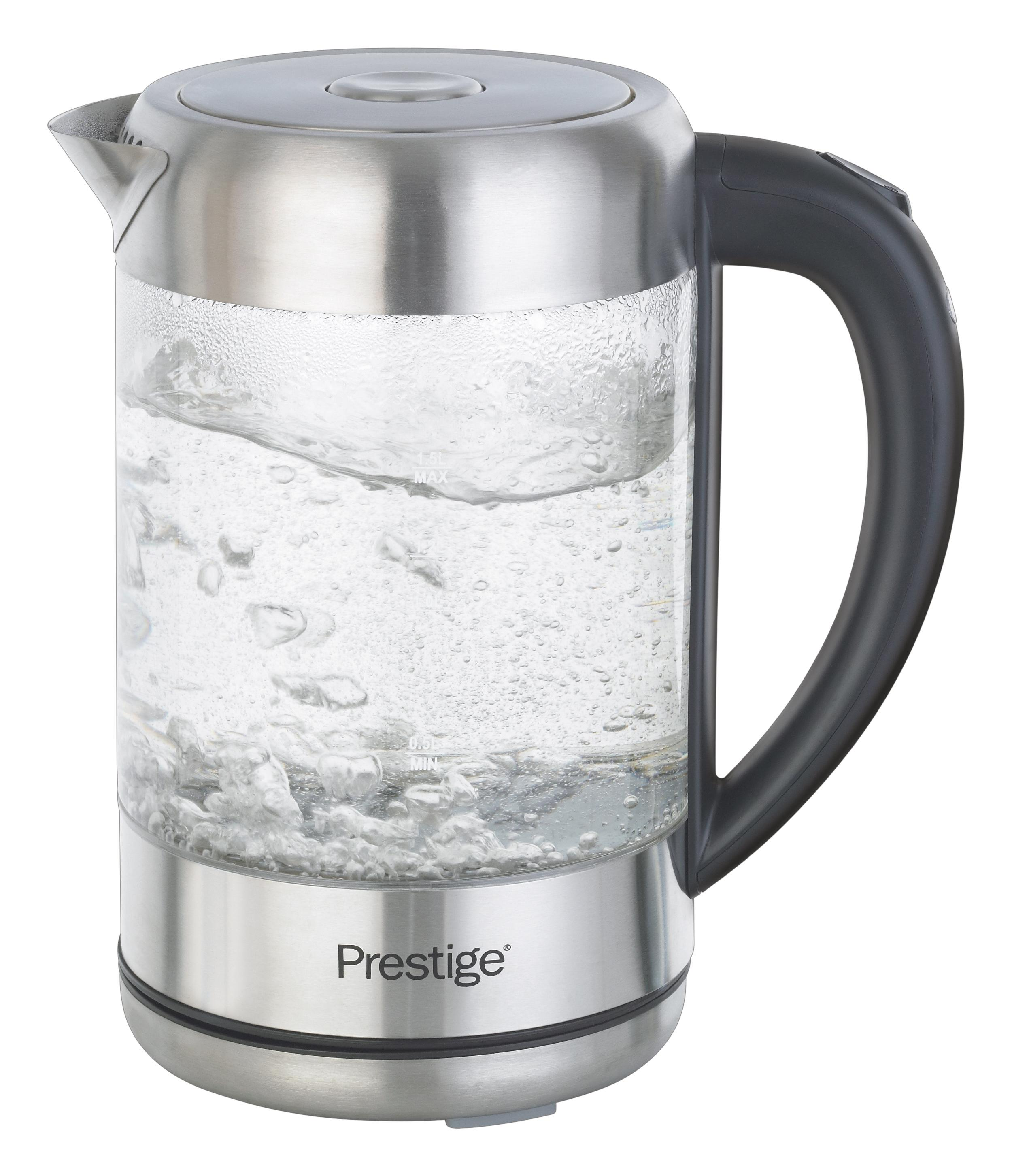 Prestige Kettle, Glass/Brushed Stainless Steel: Amazon.co
