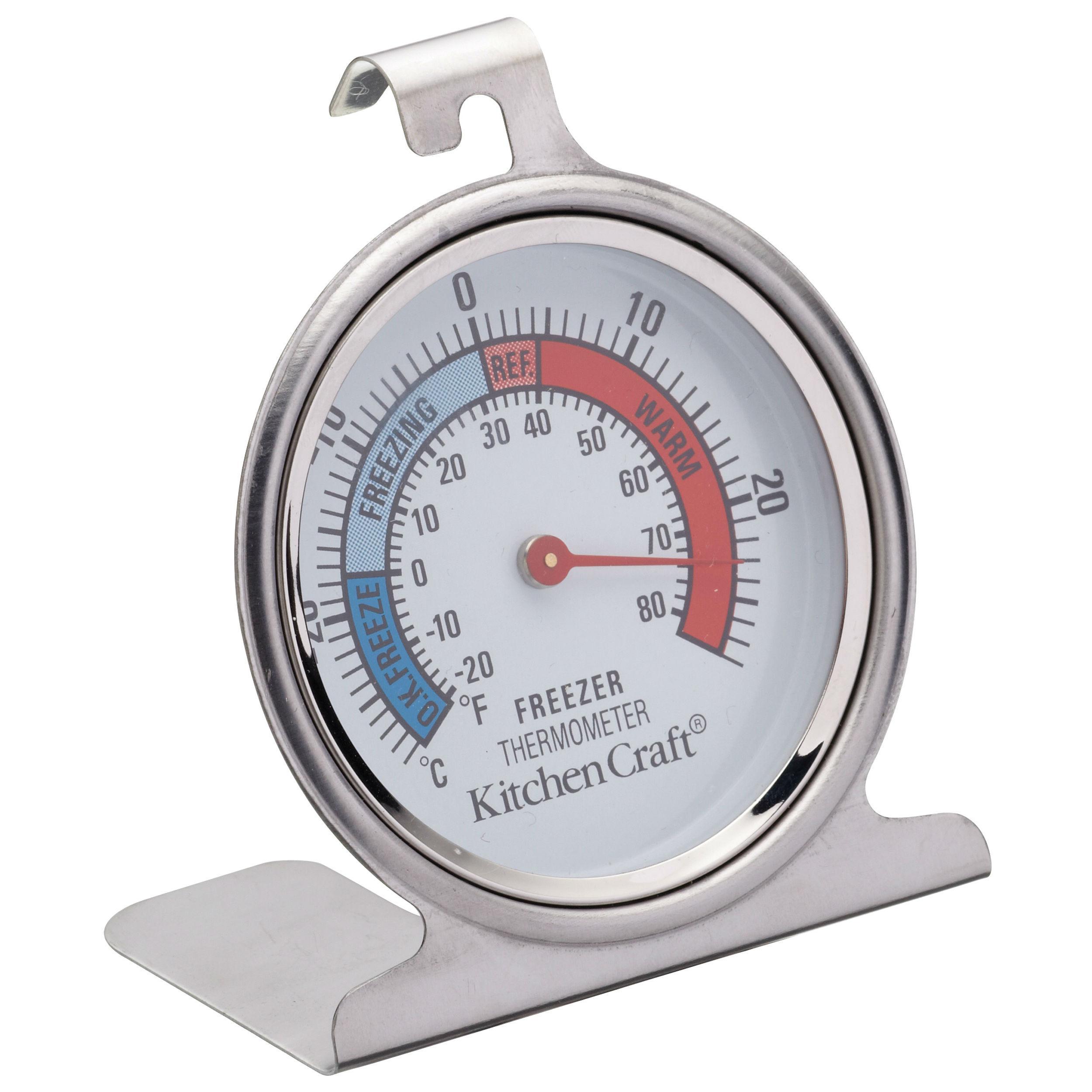 kitchencraft dial type freezer fridge thermometer. Black Bedroom Furniture Sets. Home Design Ideas