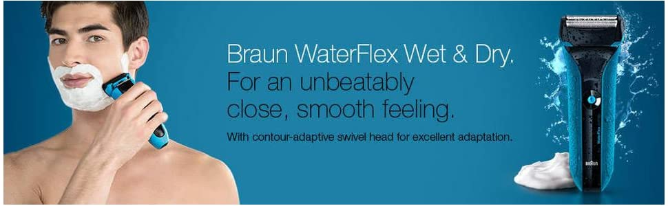 Braun WaterFlex WF2s Wet and Dry Electric Shaver with Swivel Head