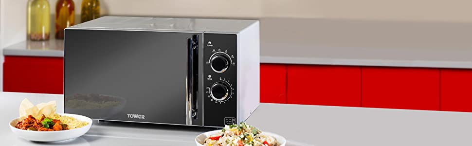 Tower T24011 Manual Solo Microwave with
