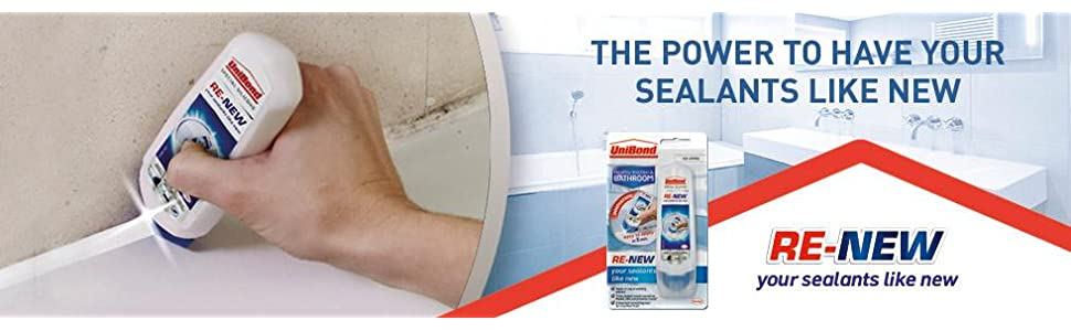 Unibond Re New Silicone Sealant White Amazon Co Uk Diy