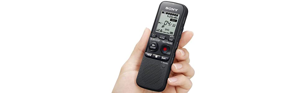 sony icdpx333 ce7 4gb px series mp3 lcd digital voice ic