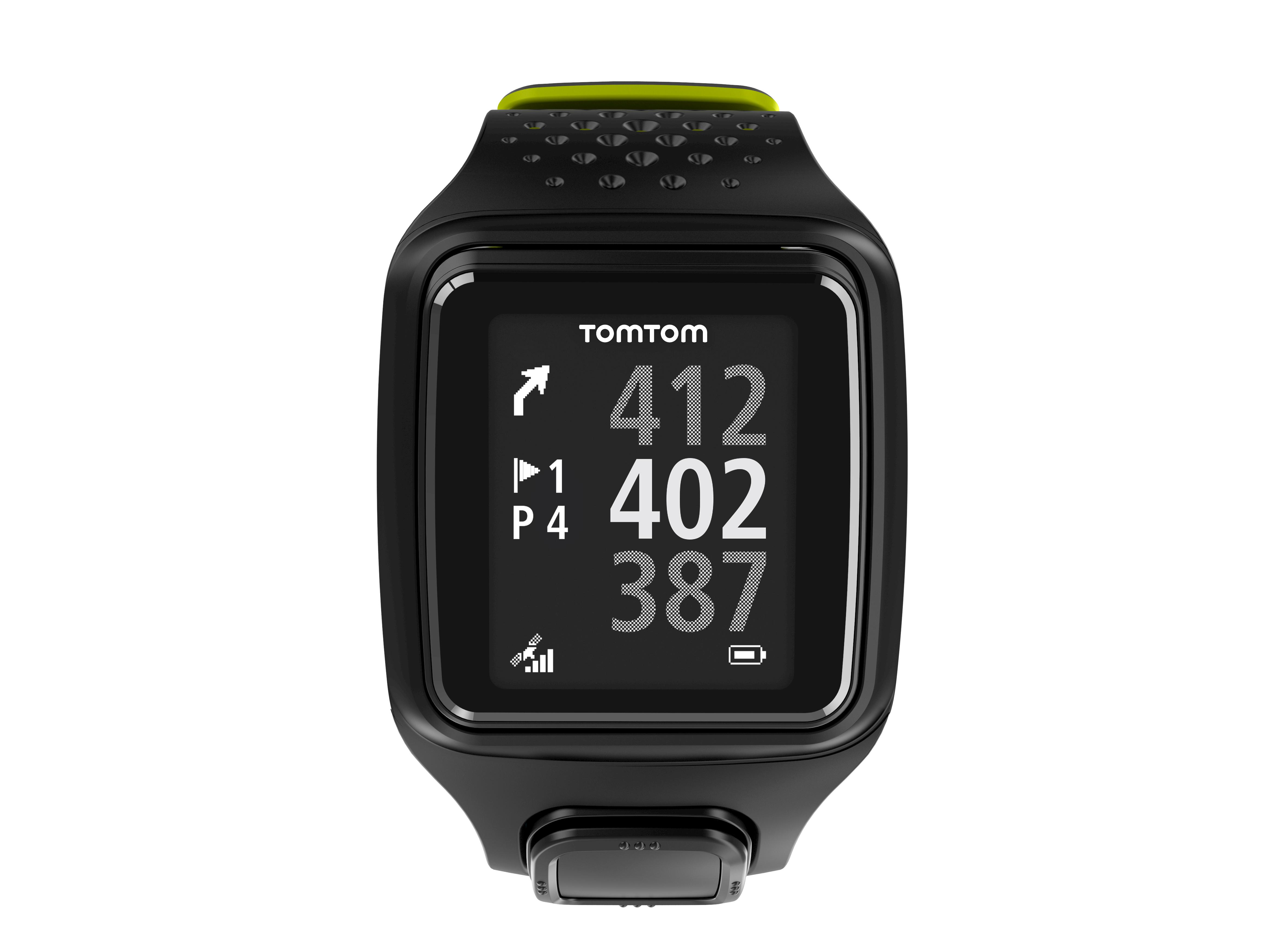 tomtom golfer gps special edition watch black green electronics. Black Bedroom Furniture Sets. Home Design Ideas