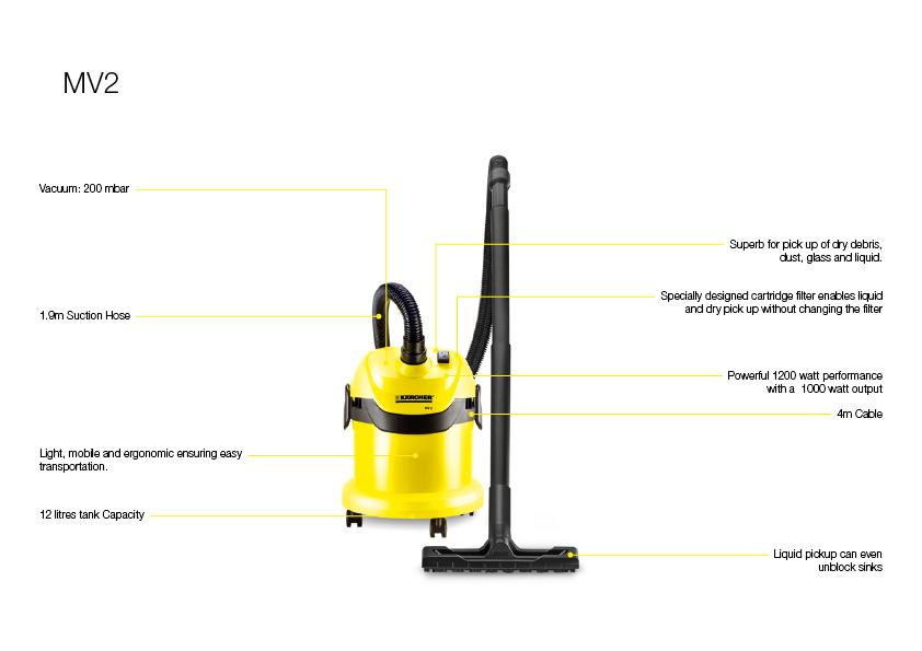 karcher wd2 tough vac wet and dry vaccum cleaner yellow. Black Bedroom Furniture Sets. Home Design Ideas