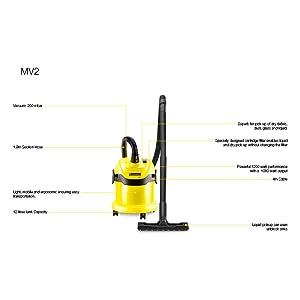 Karcher MV2 features