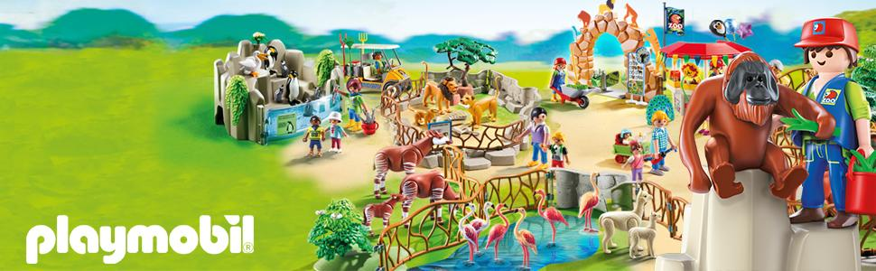 playmobil 6634 city life large city zoo with many animals. Black Bedroom Furniture Sets. Home Design Ideas