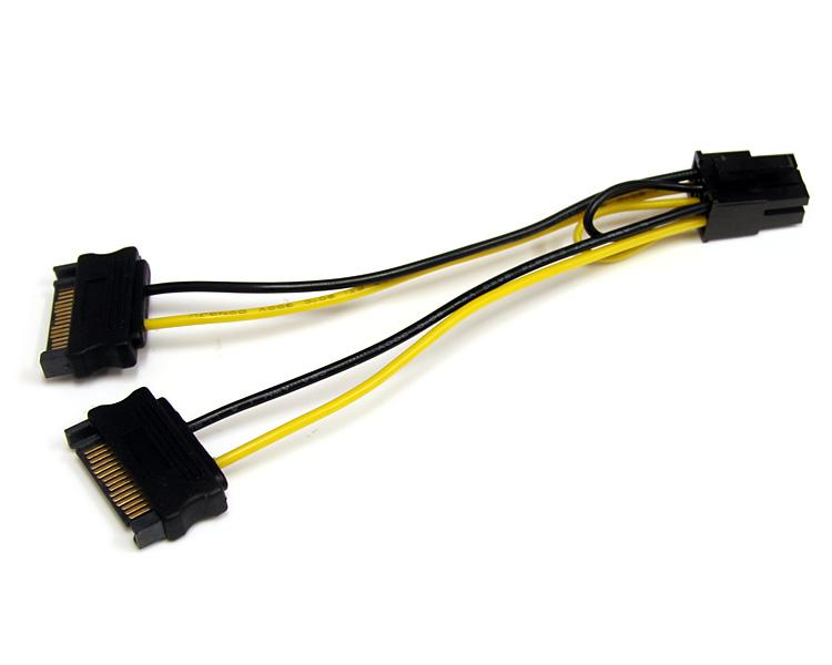 Startech Com 6in Sata Power To 6 Pin Pci Express Video
