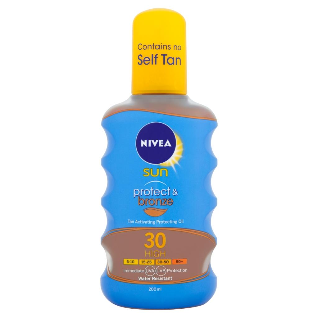 Nivea Sun Tan Activating Suncream Oil Spray Spf 30