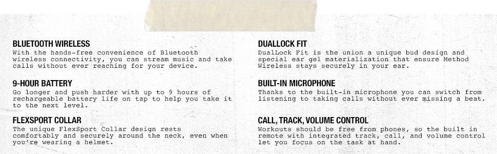 Skullcandy, Skullcandy Method, Wireless Headphones, Wireless Earphones, Bluetooth,