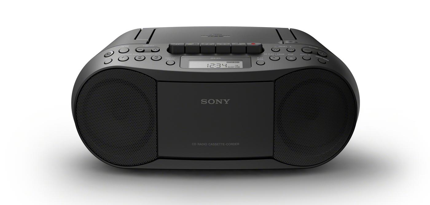 sony cfd s70 boombox lcd display cd cassette player am. Black Bedroom Furniture Sets. Home Design Ideas