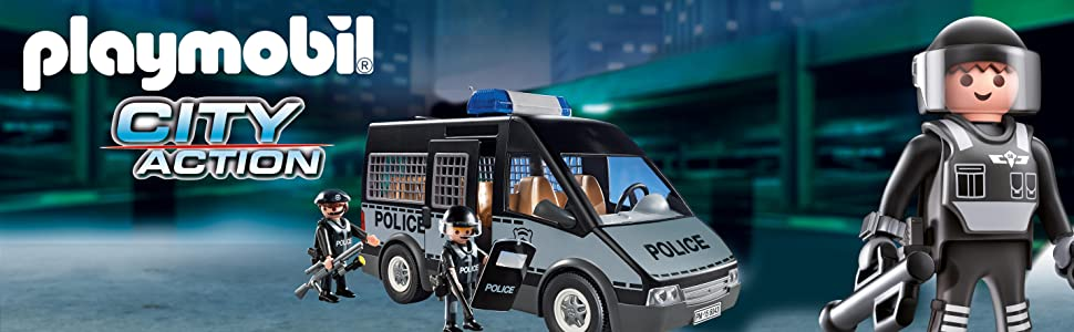 Playmobil 6043 Police Van With Lights And Sound Amazon Co