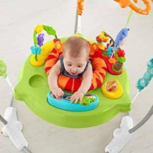 d8ff902eb4e5 Fisher-Price Roaring Rainforest Jumperoo Baby Bouncer Swing Music ...