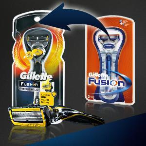 Gillette Fusion and Proshield razors