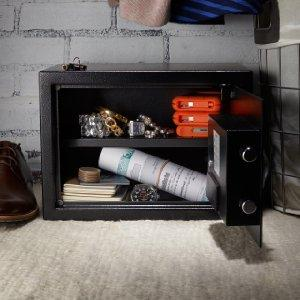 amazonbasics security safe 14 1 l 0 5 cubic feet black. Black Bedroom Furniture Sets. Home Design Ideas