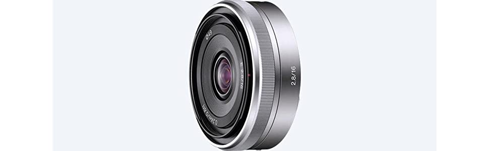 Sony, SEL16F28, Alpha, NEX Series Lens, 16mm F2.8, Camera Lens