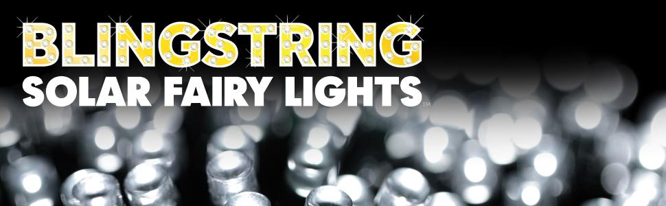 Blingstring Outdoor Solar Fairy Lights White 100 Leds