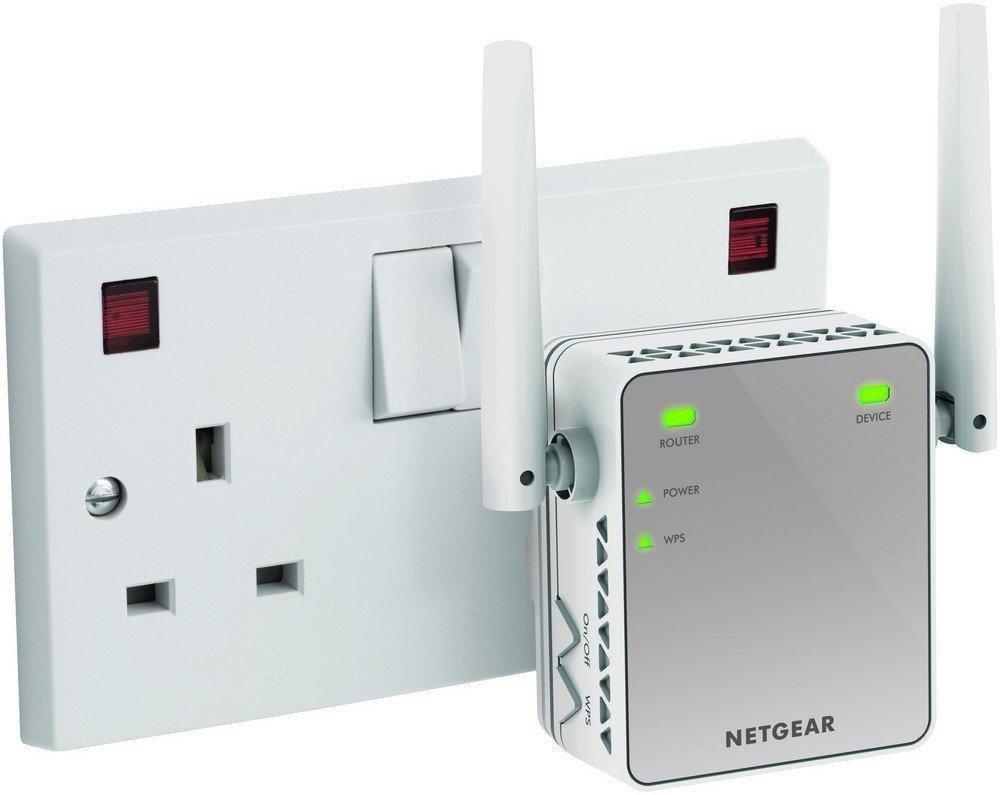 Netgear Mini N300 Mbps Wi Fi Range Extender With External