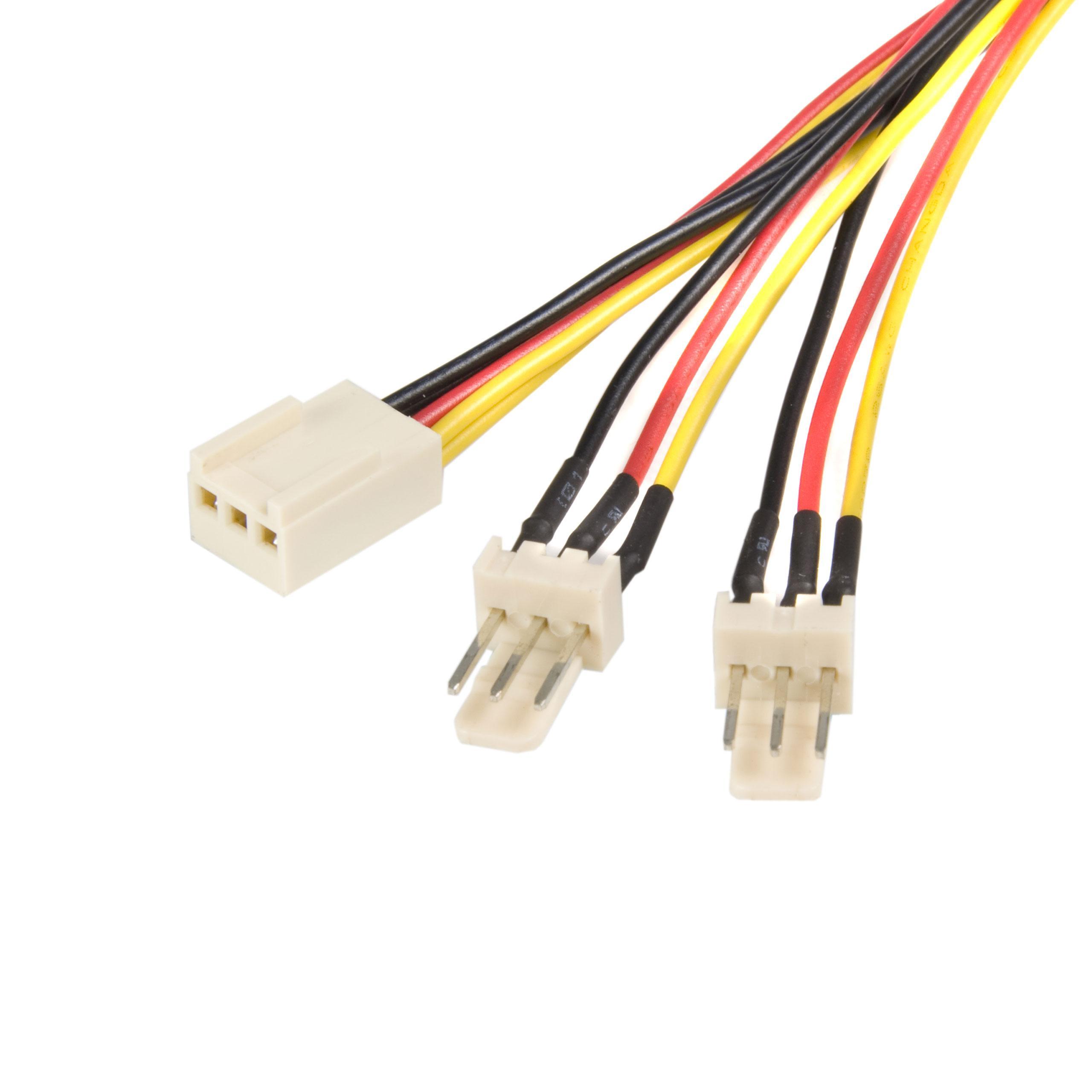 Startech Com 12in 30cm Tx3 Fan Power Splitter Cable