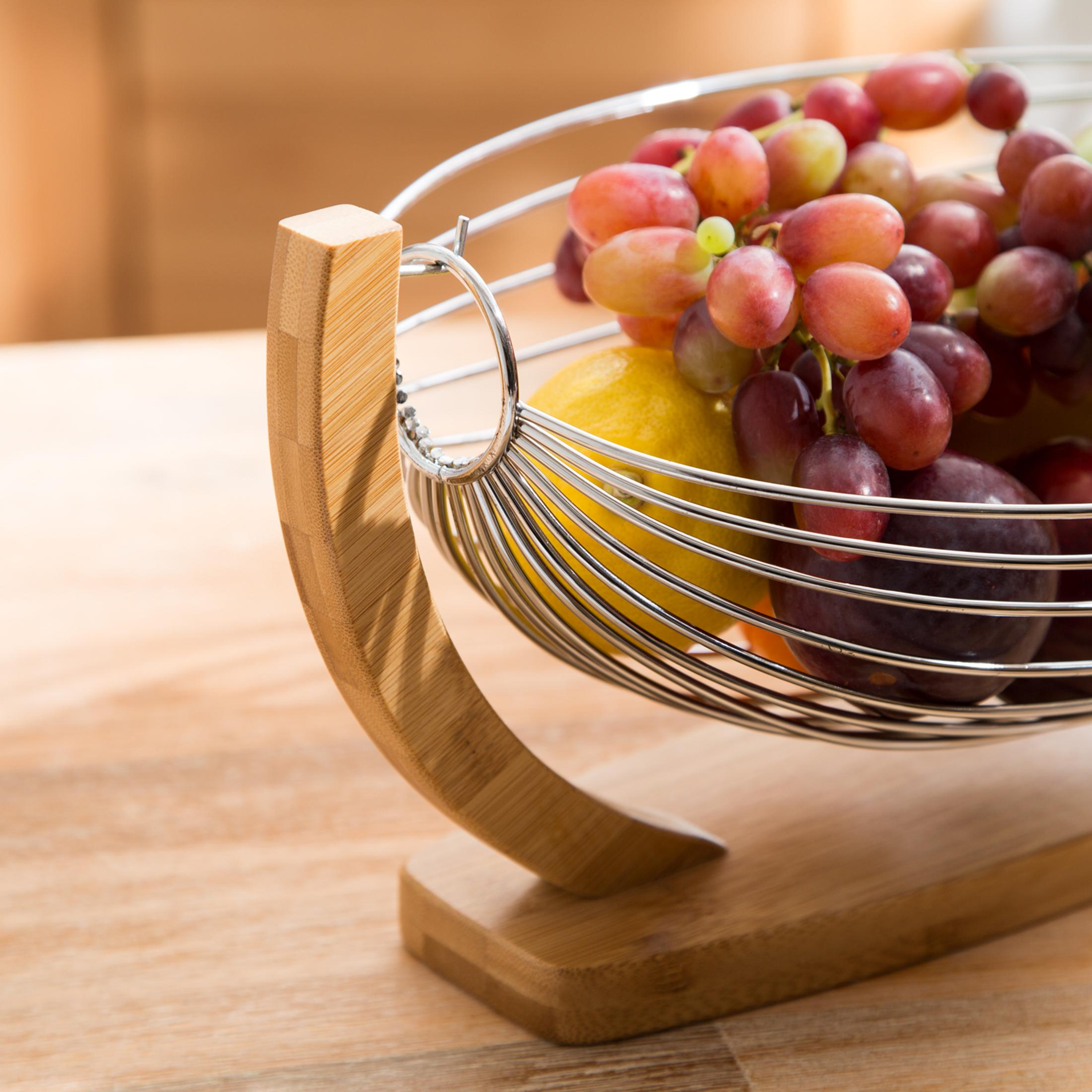 Levivo Fruit Bowl For The Kitchen Fruit Basket In Metal