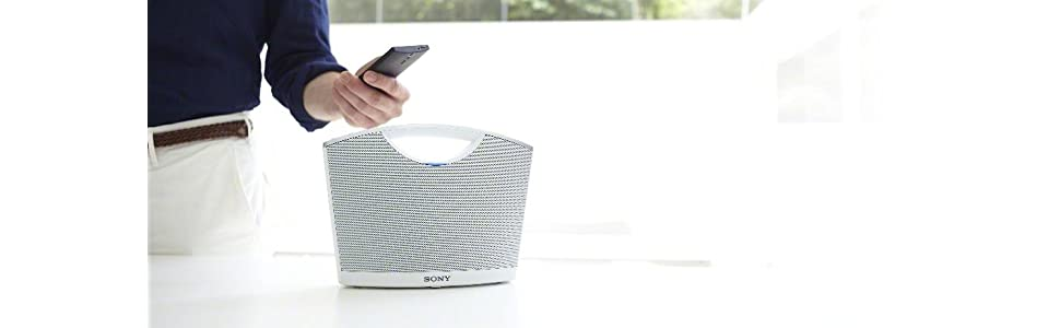 Sony, portable wireless speaker, bluetooth, hands-free calls