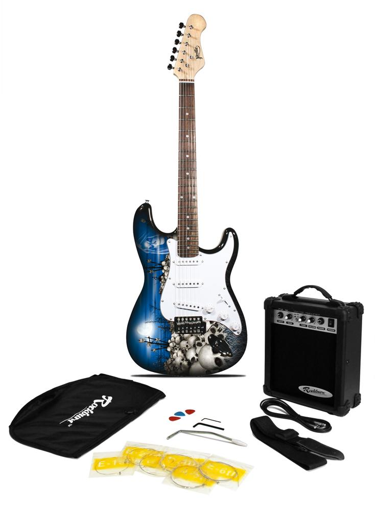 jaxville reaper st style electric guitar pack with amp gig bag strings strap lead and plecs. Black Bedroom Furniture Sets. Home Design Ideas