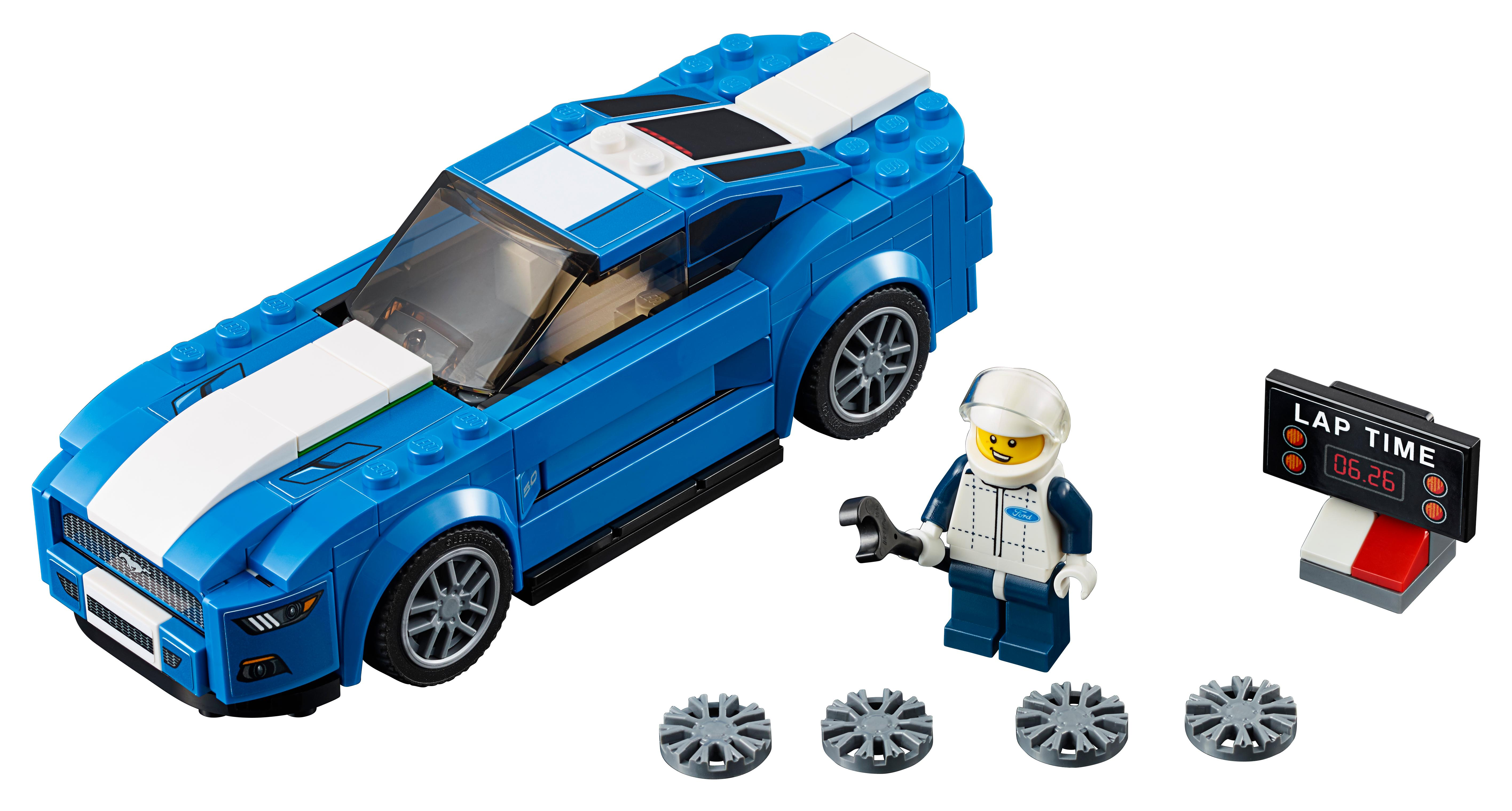 lego speed champions 75871 ford mustang gt set mixed. Black Bedroom Furniture Sets. Home Design Ideas