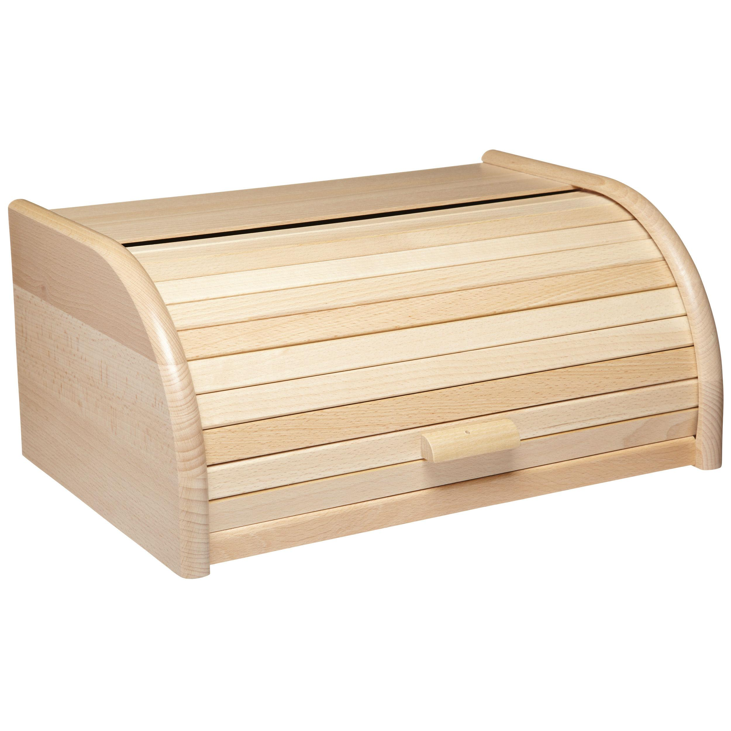 How Decorate Home Kitchencraft Roll Top Wooden Bread Bin 40 X 28 X 18 Cm