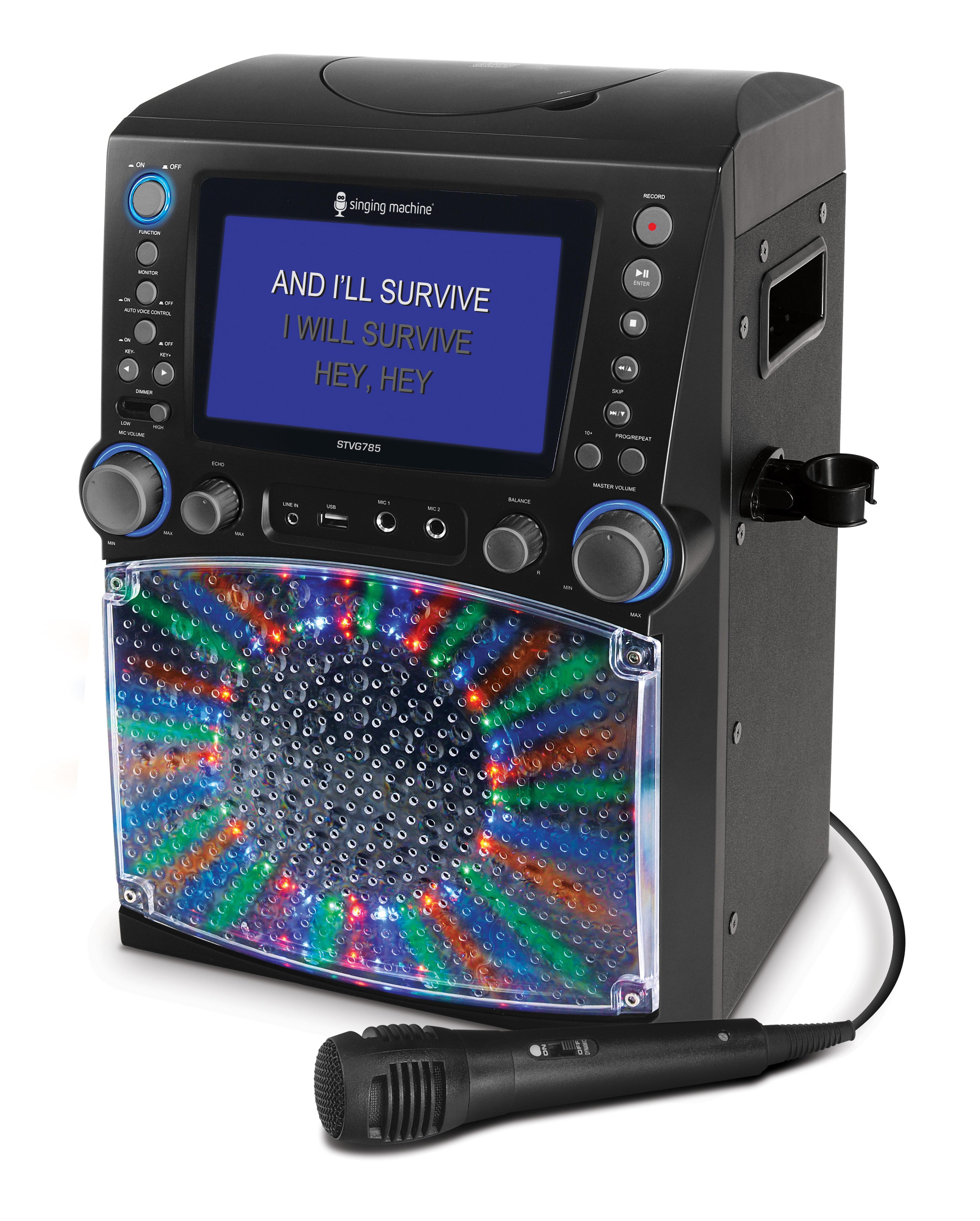 Singing Machine Stvg785bk Karaoke Machine Black Amazon