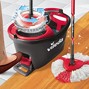 vileda easy wring and clean turbo microfibre mop and bucket set ebay. Black Bedroom Furniture Sets. Home Design Ideas