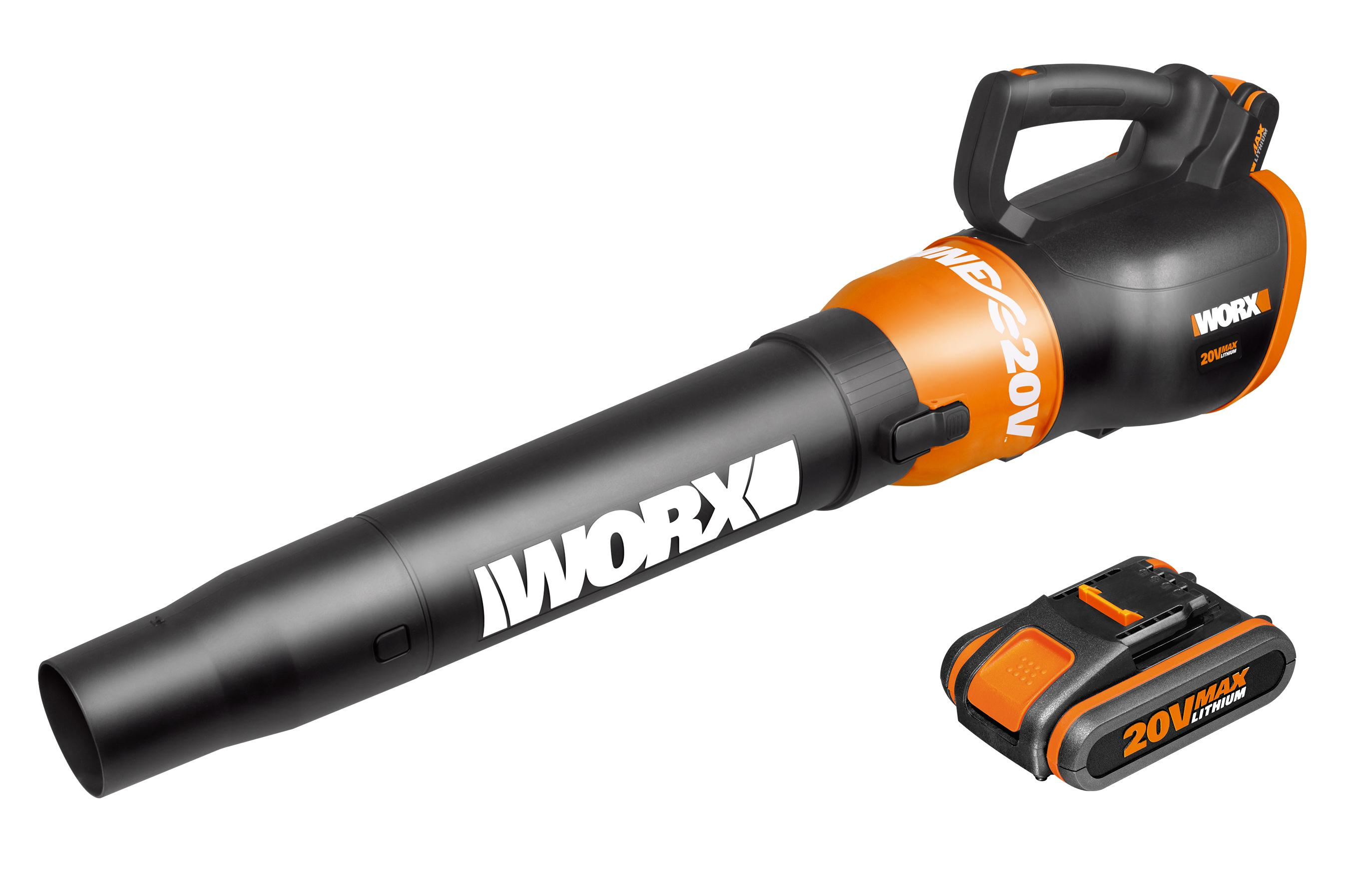 worx wge  cordless lithium air turbine blower   ah battery packs amazoncouk