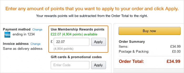Amazon.co.uk Shop with Points