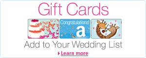 Add an Amazon.co.uk Gift Card to your Wedding List