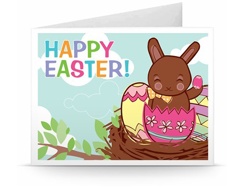 happy easter printable gift voucher