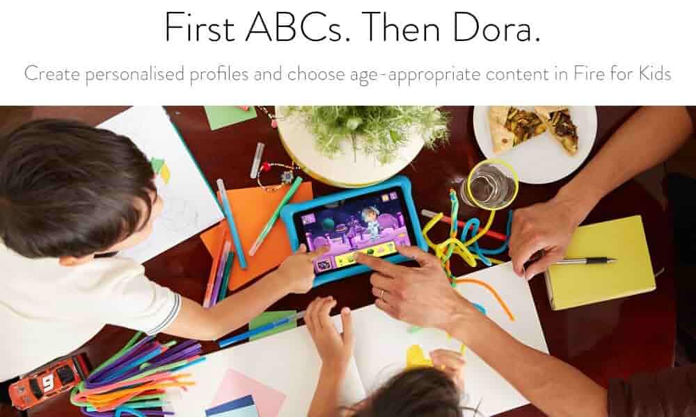 First A B C's. Then Dora.