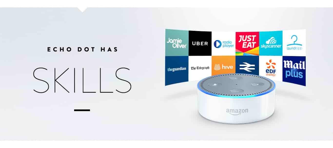 Echo Dot has Skills