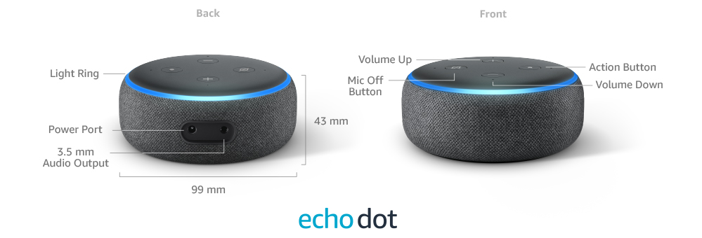 مكبر الصوت الذكي (Echo Dot (3rd Gen