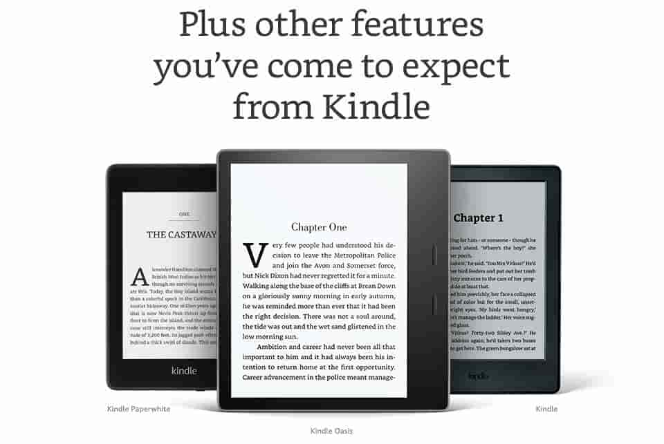 Plus other features you've come to expect from Kindle